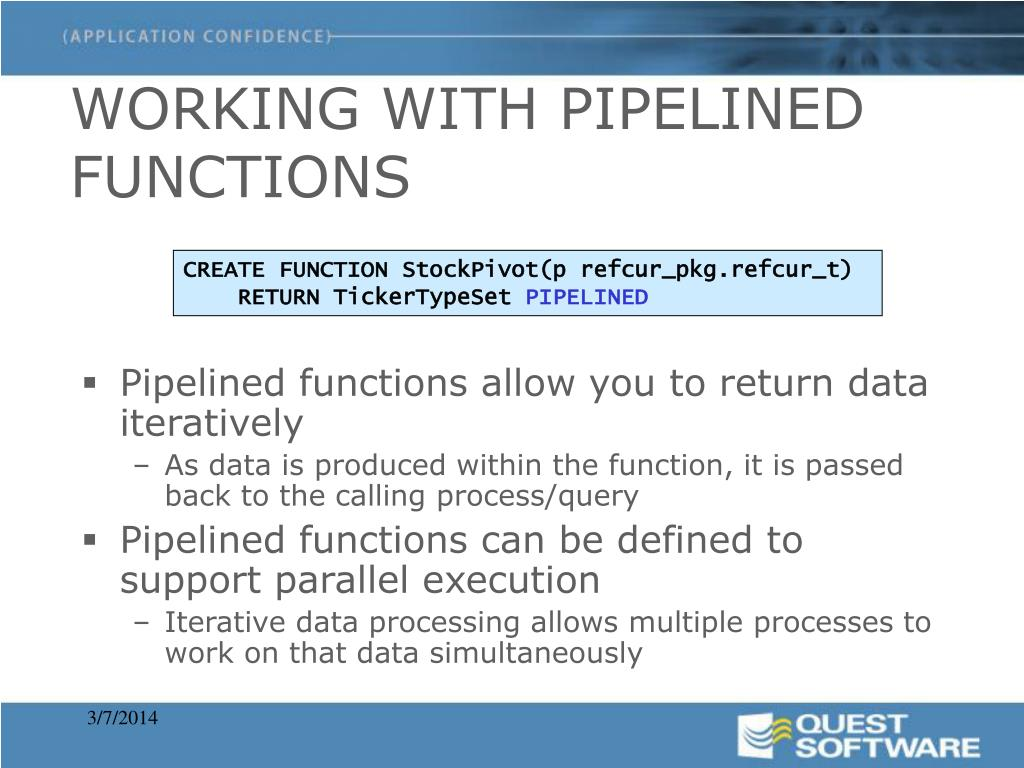 WORKING WITH PIPELINED FUNCTIONS