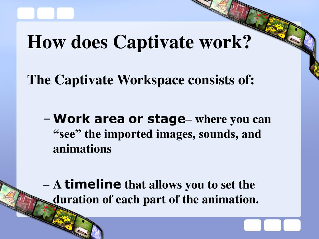 How does Captivate work?