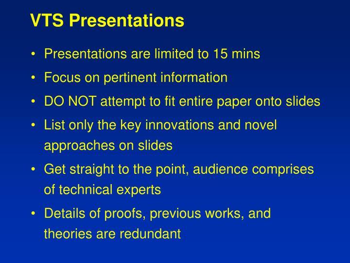 VTS Presentations
