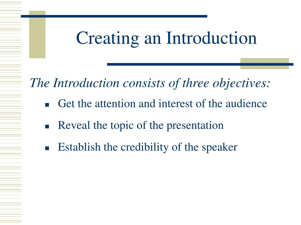 Creating an Introduction