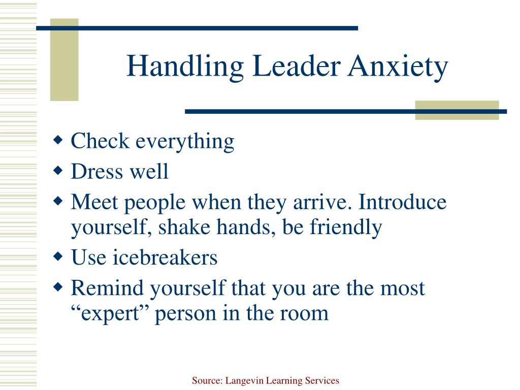 Handling Leader Anxiety