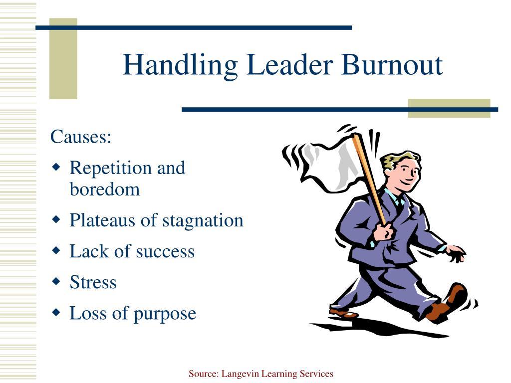Handling Leader Burnout
