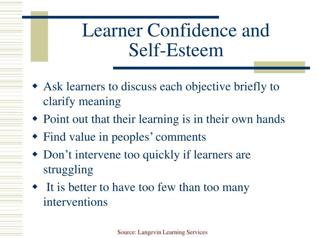Learner Confidence and