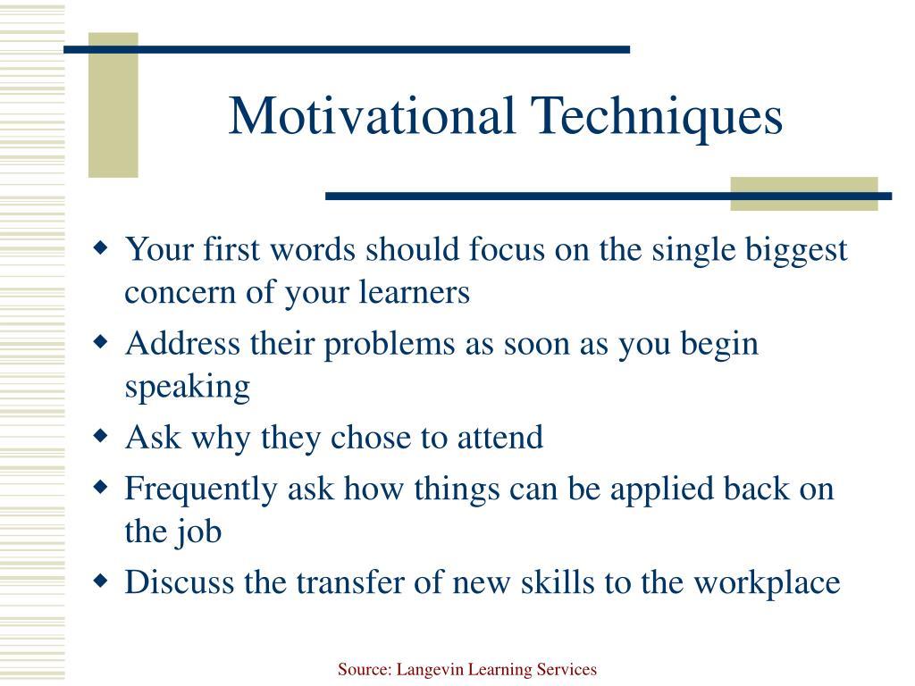 Motivational Techniques