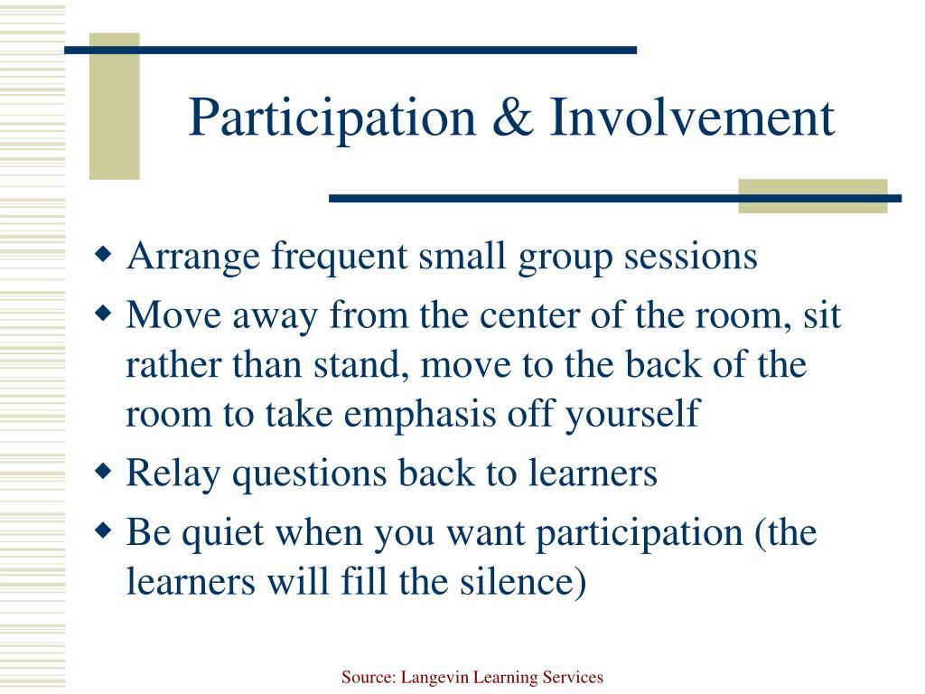 Participation & Involvement