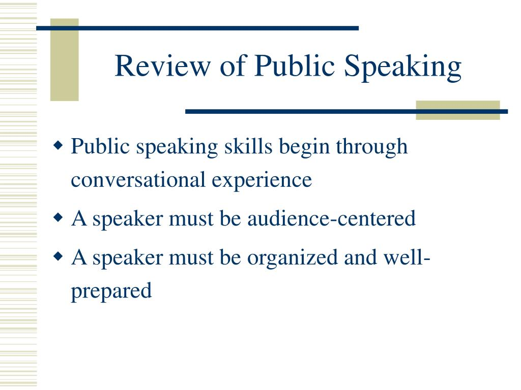 Review of Public Speaking