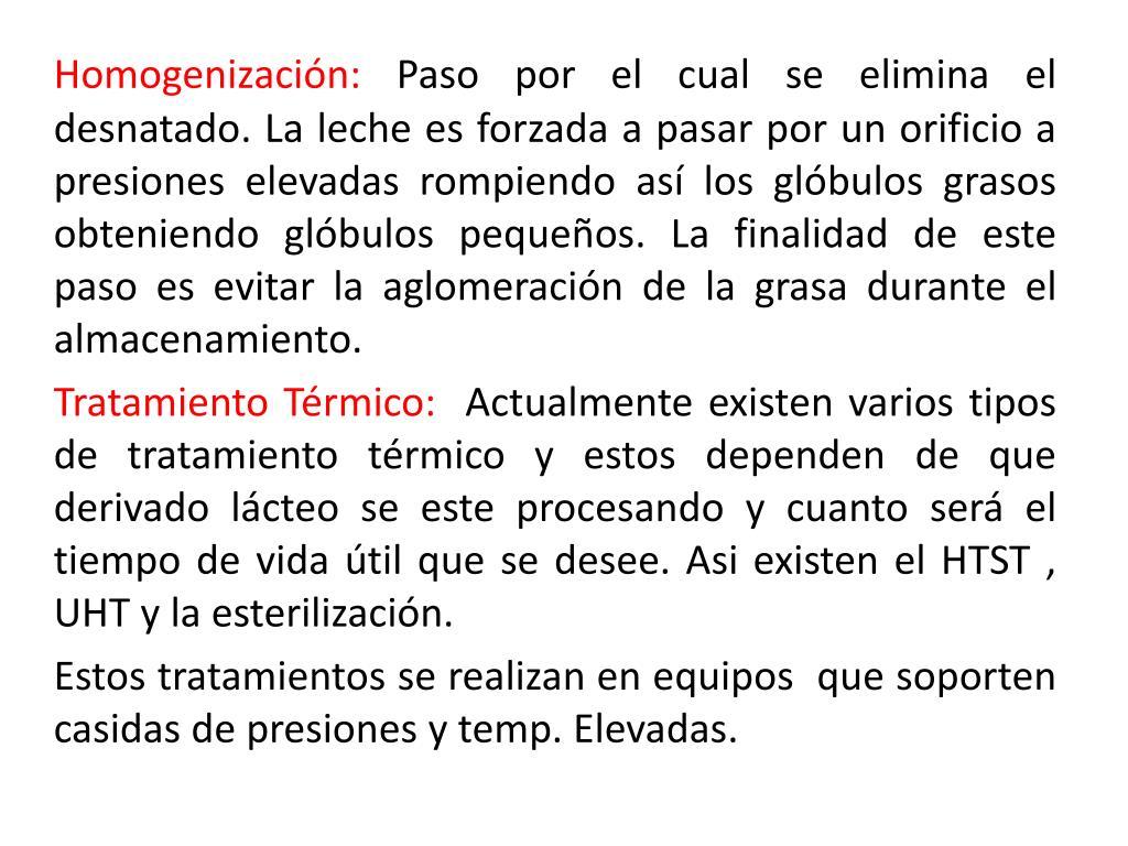 Homogenización: