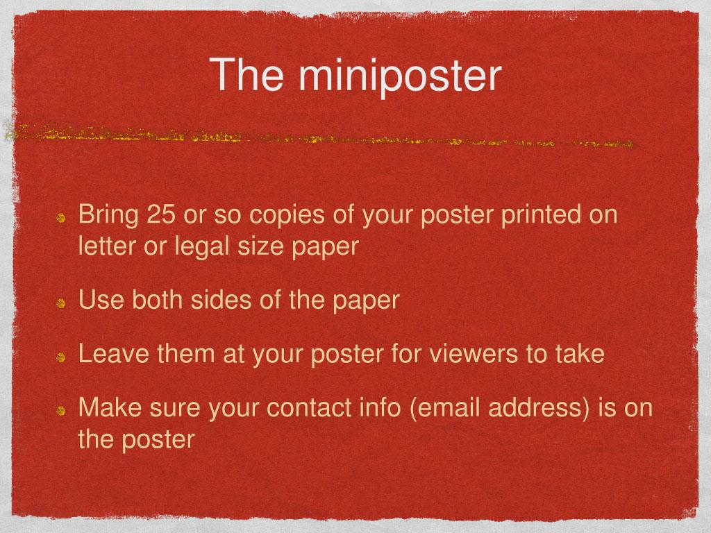 The miniposter