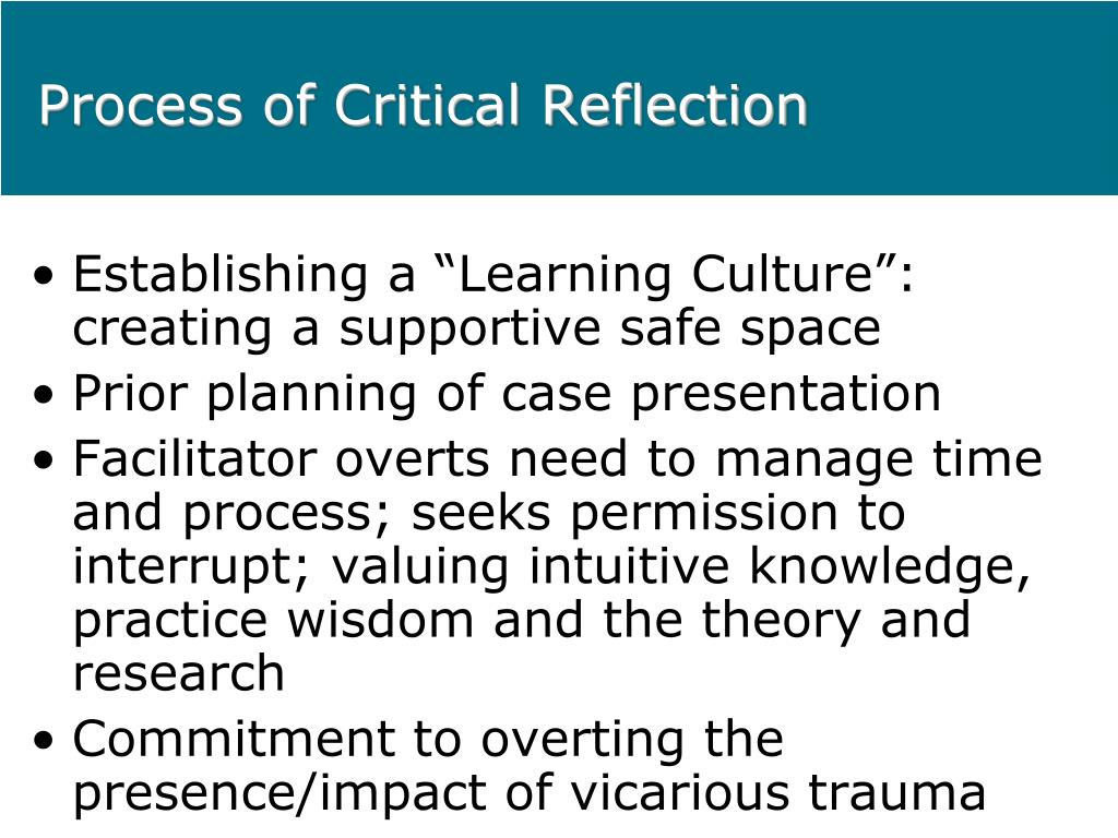 how to write a critical reflection