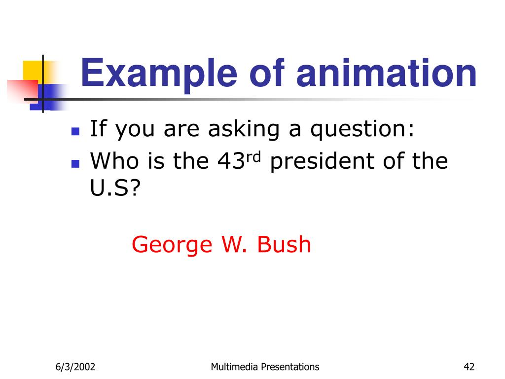 Example of animation