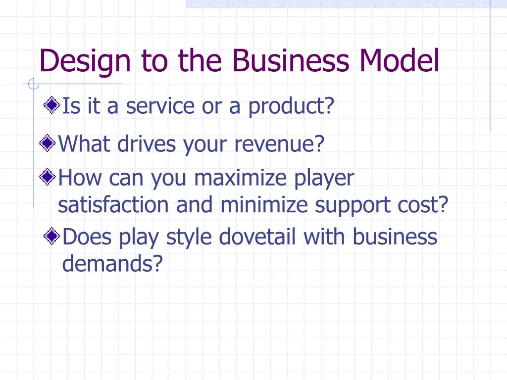 Design to the Business Model