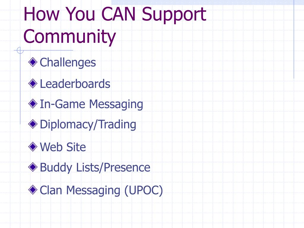 How You CAN Support Community
