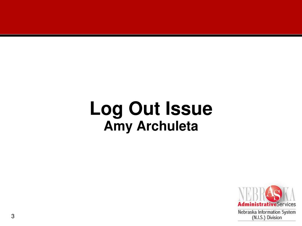 Log Out Issue
