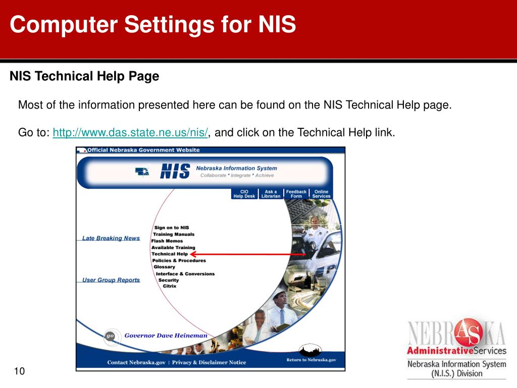 Computer Settings for NIS