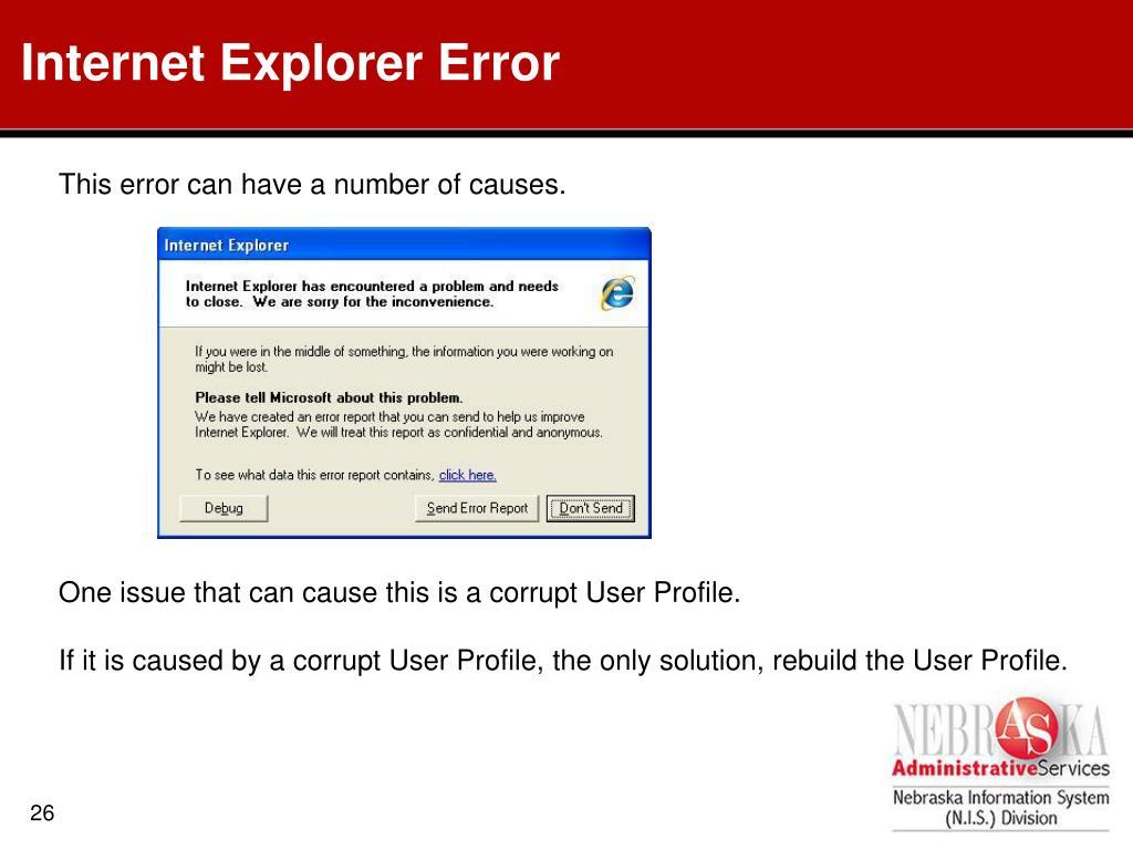 Internet Explorer Error