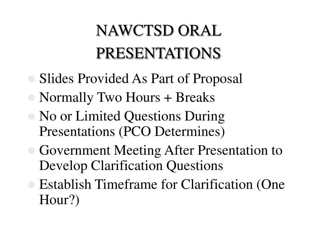 NAWCTSD ORALPRESENTATIONS