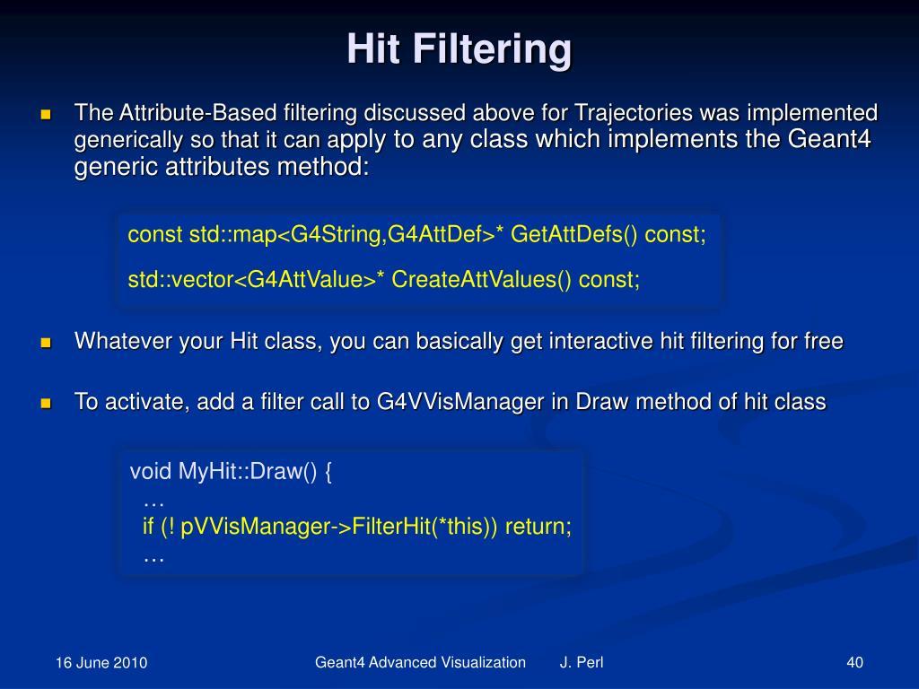 Hit Filtering