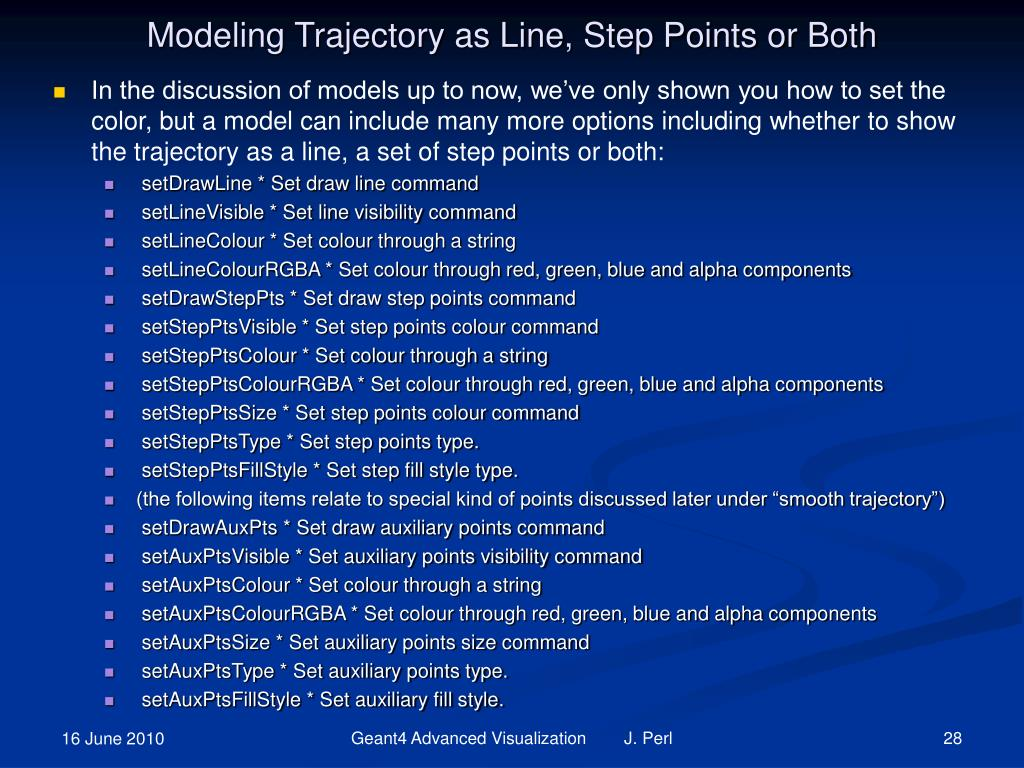 Modeling Trajectory as Line, Step Points or Both