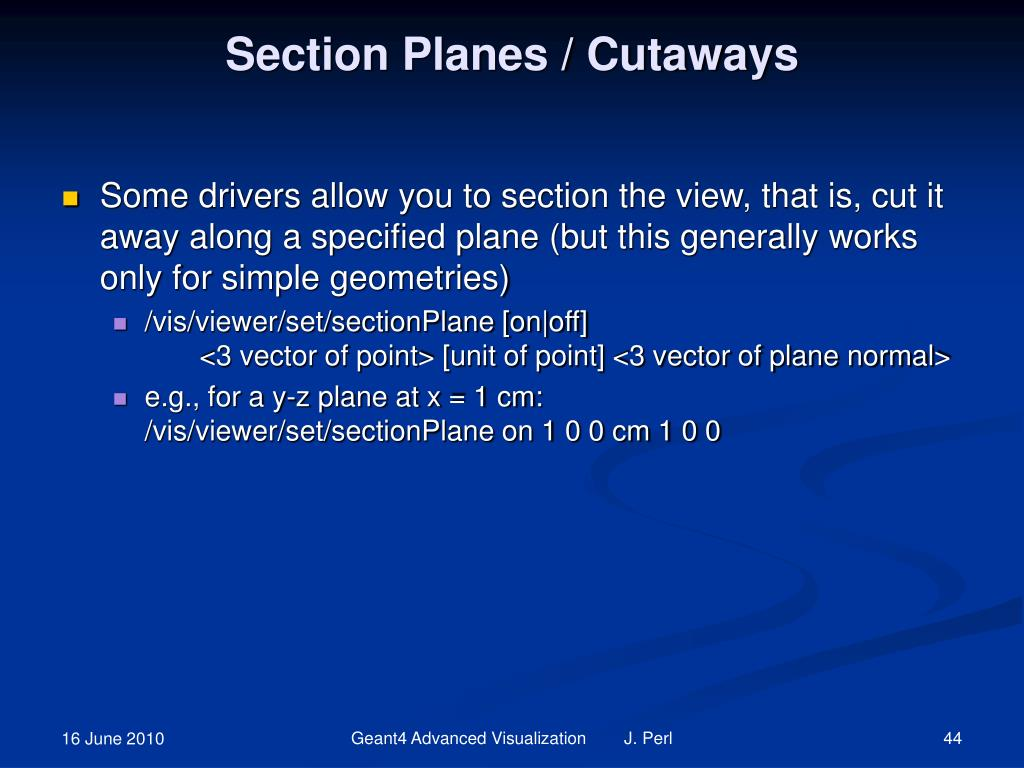 Section Planes / Cutaways