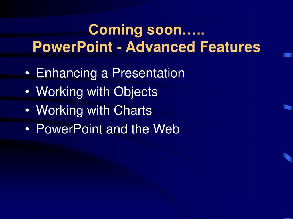 Enhancing a Presentation