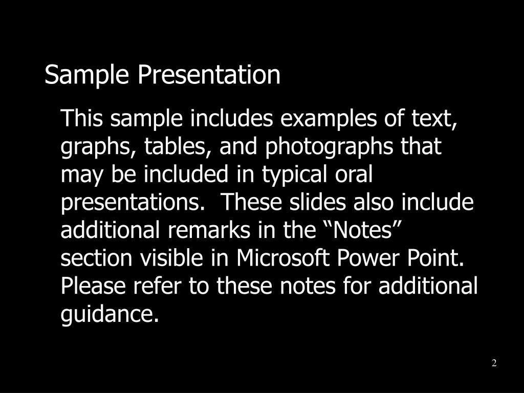Sample Presentation