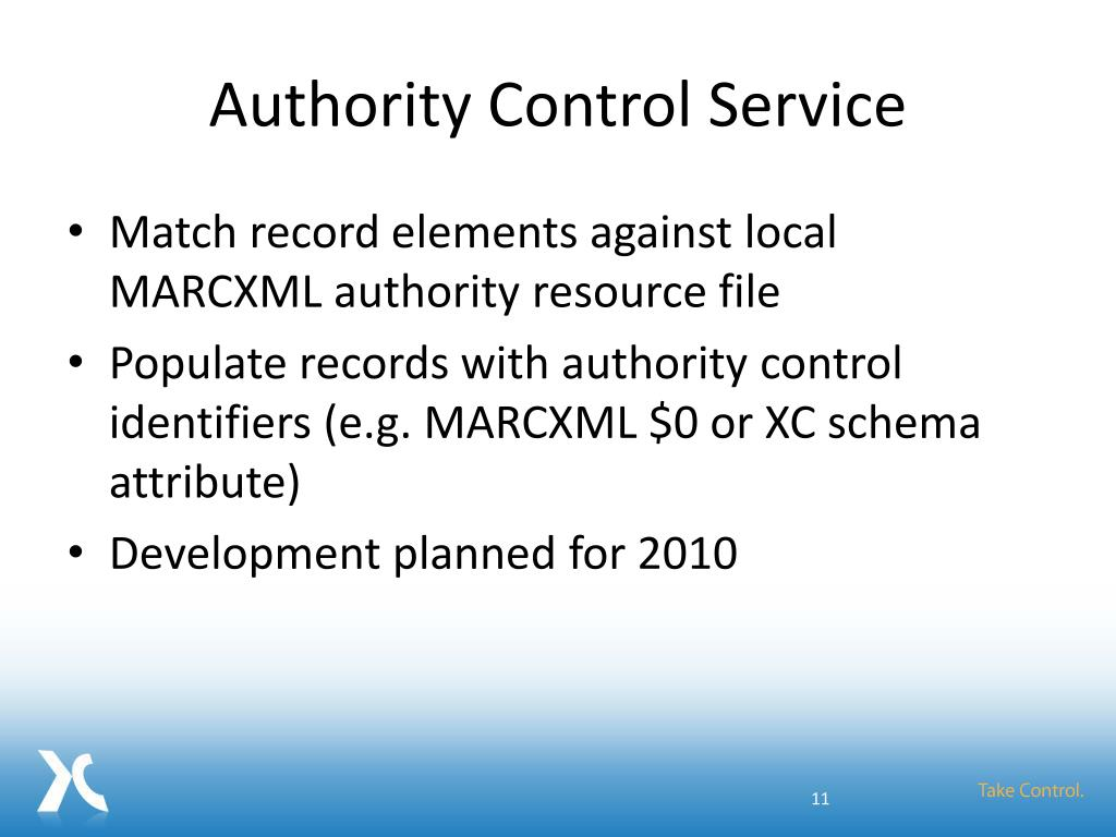 Authority Control Service