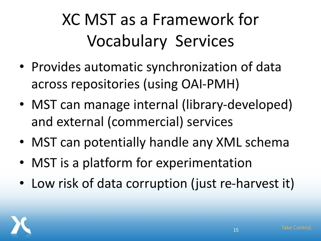 XC MST as a Framework for