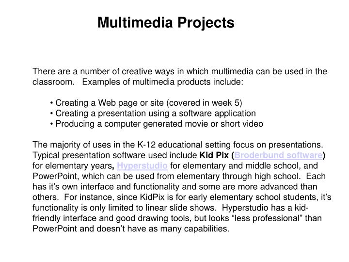 Multimedia Projects