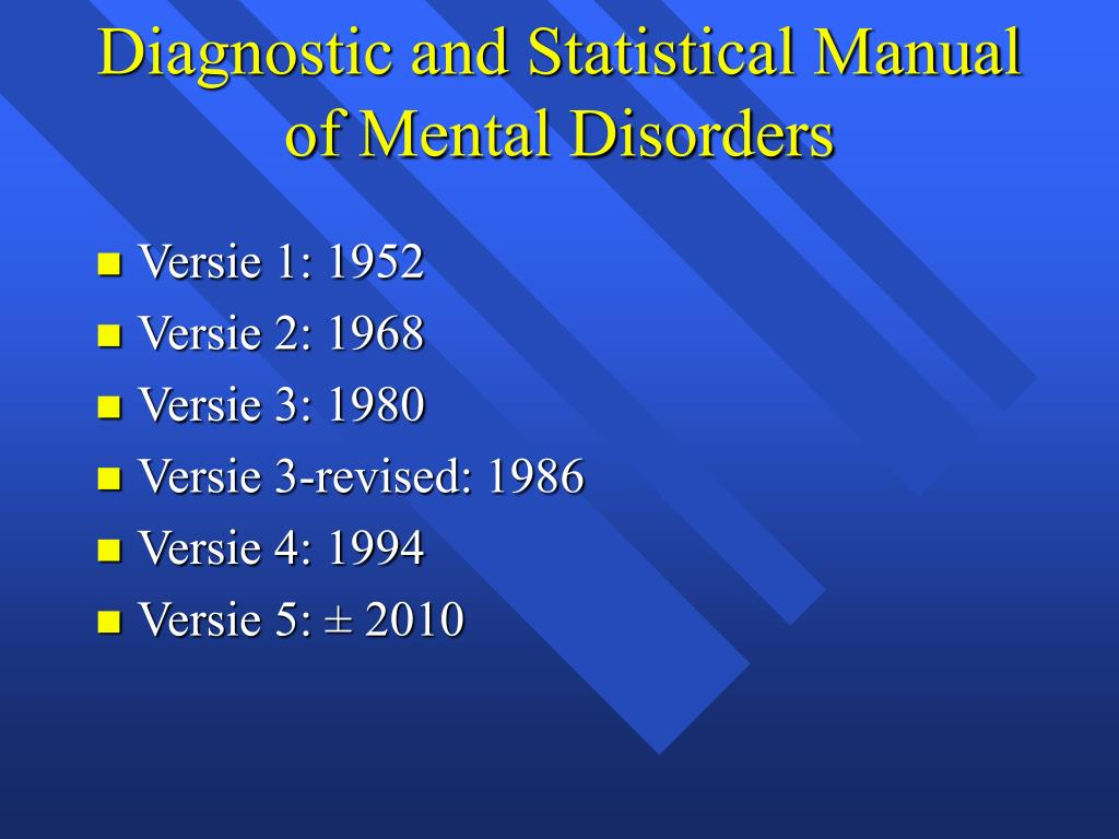 diagnostic and statistical manual of mental disorders essay Dsm-iv-tr dsm-iv-tr psychiatrists and clinicians use the diagnostic and statistical manual of mental disorders to establish psychiatric disorders.