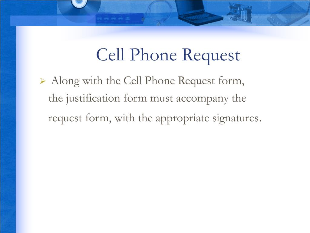 Cell Phone Request