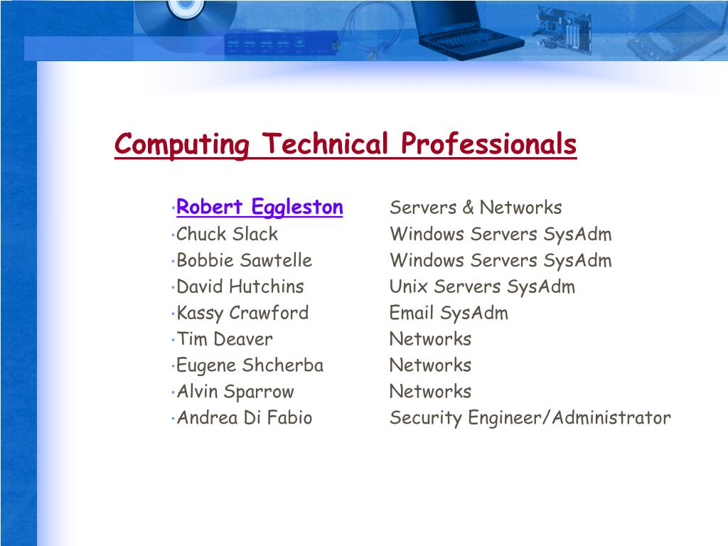 Computing Technical Professionals