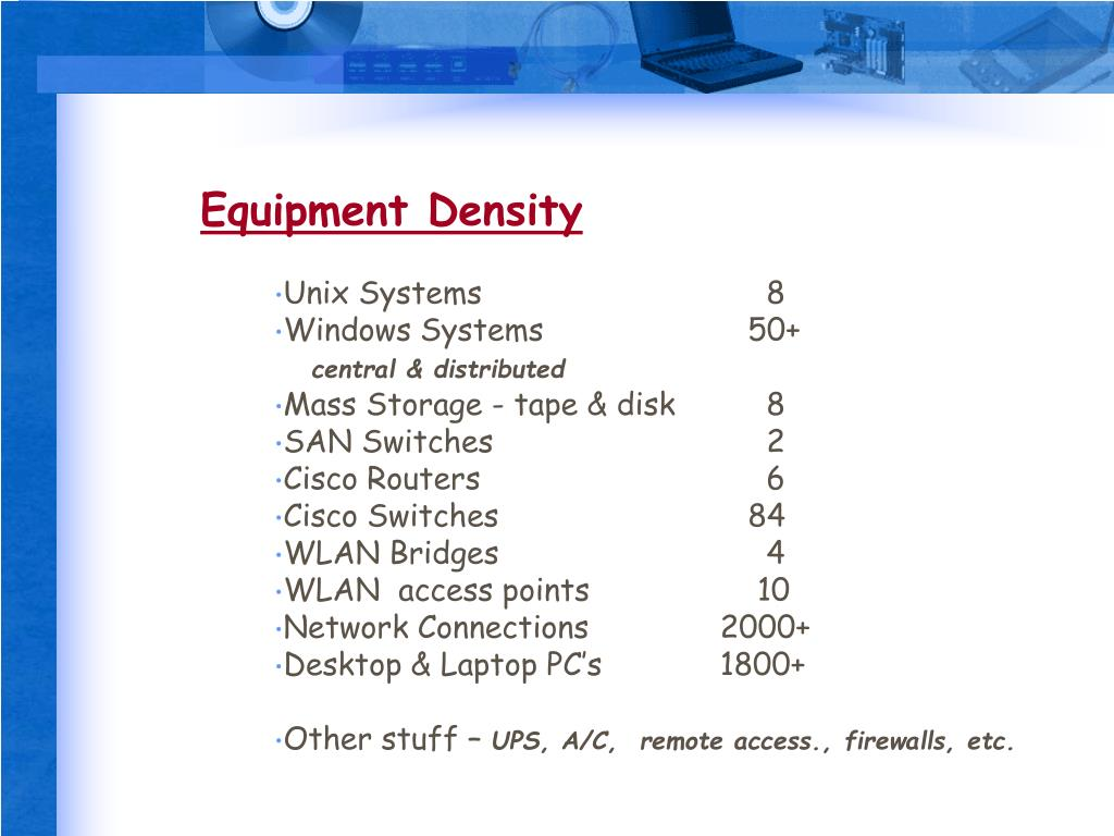Equipment Density