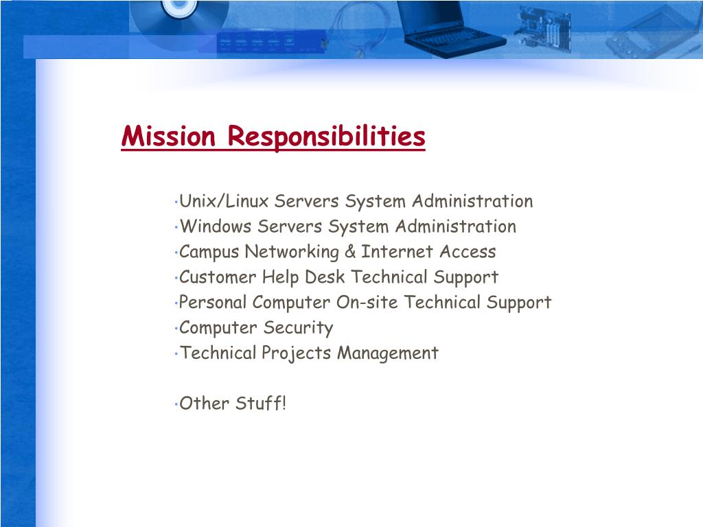 Mission Responsibilities