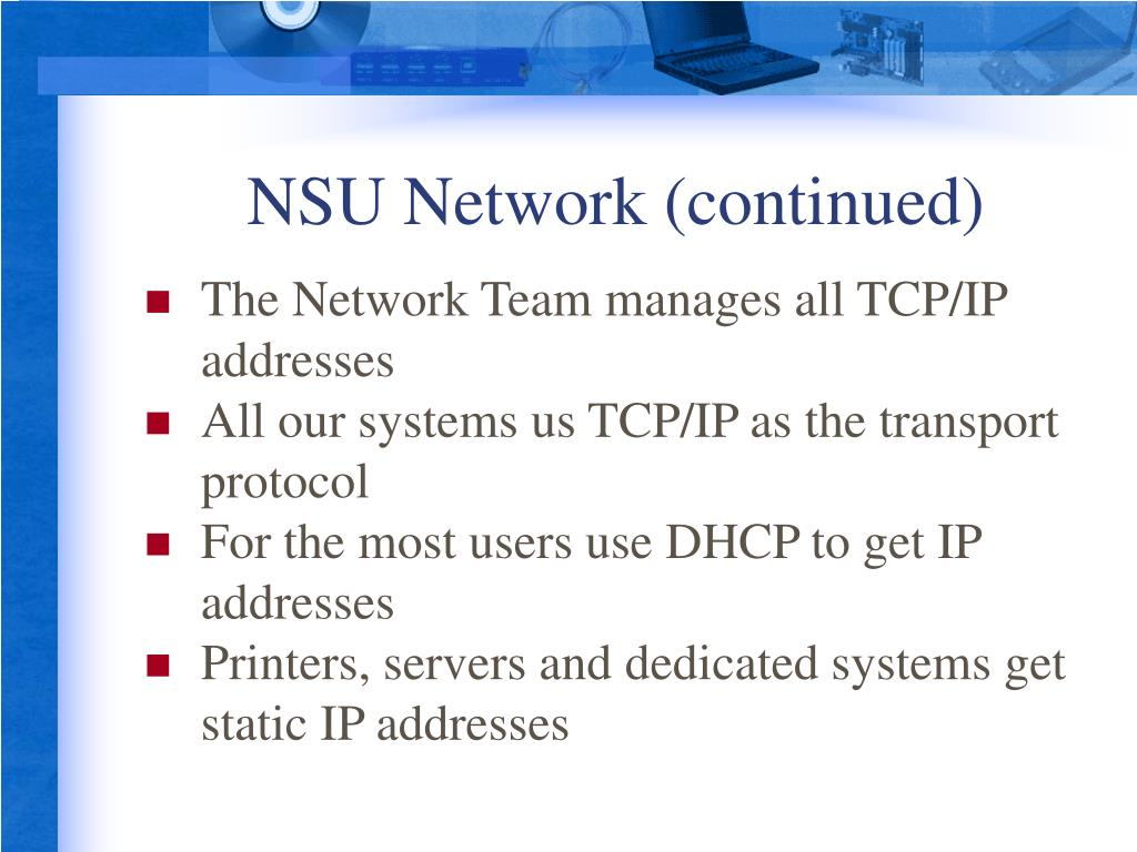 NSU Network (continued)