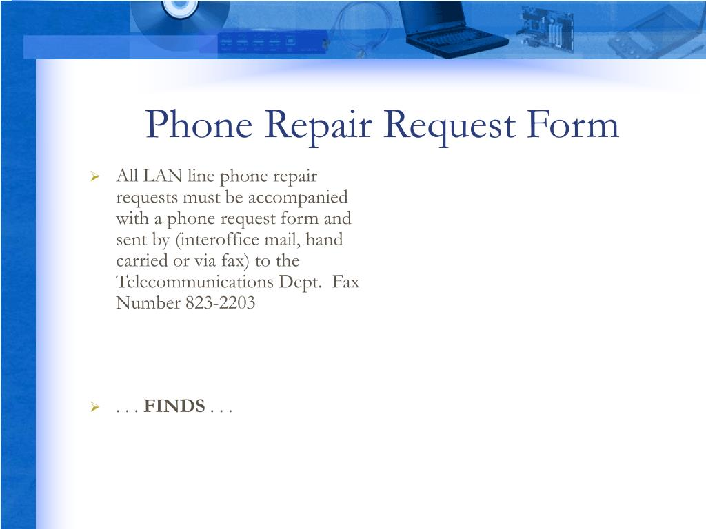 Phone Repair Request Form