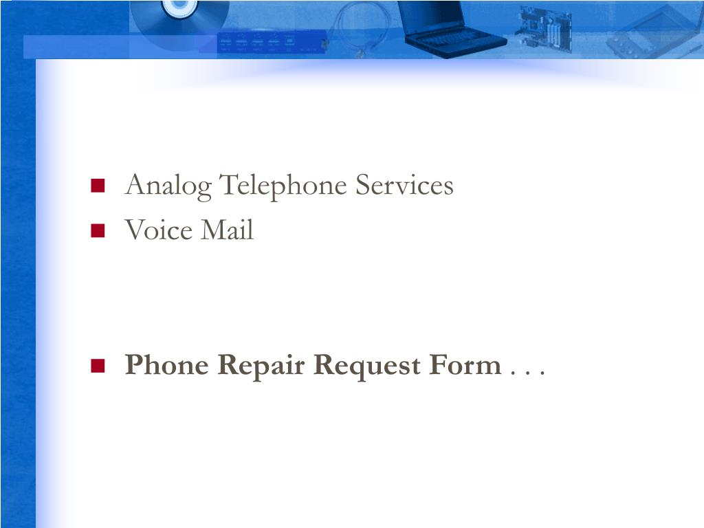 Analog Telephone Services