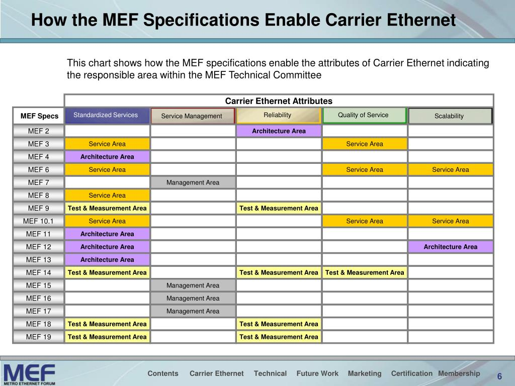 How the MEF Specifications Enable Carrier Ethernet