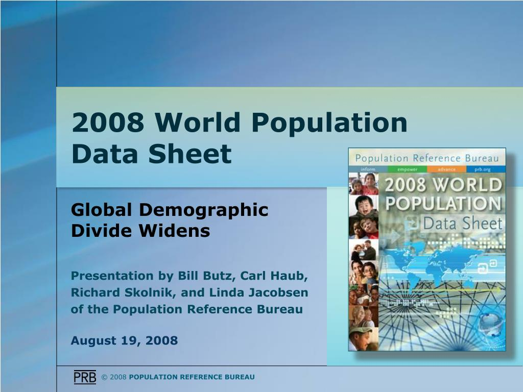 Global Demographic Divide Widens