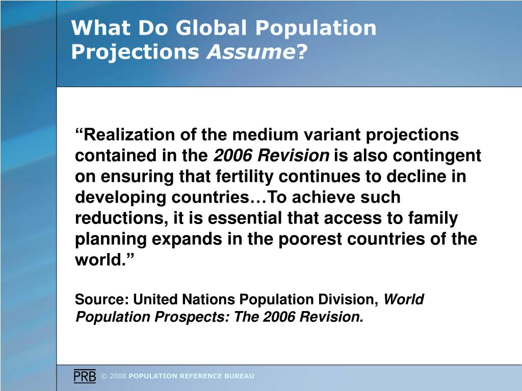 What Do Global Population Projections