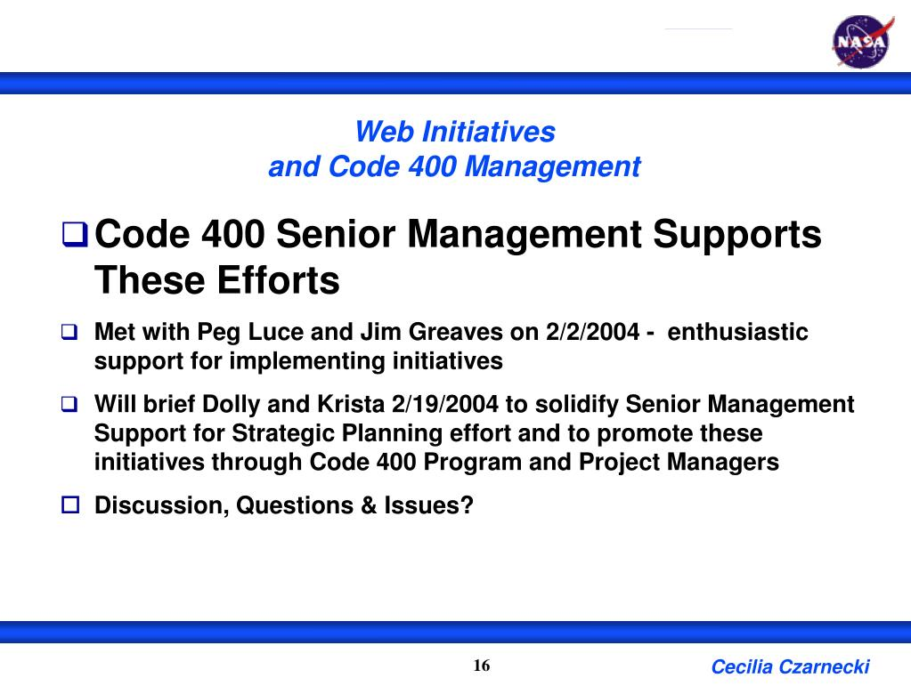 Web Initiatives