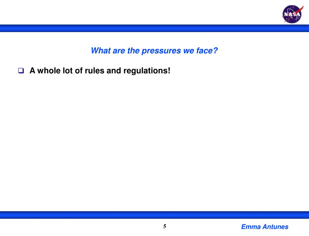 What are the pressures we face?