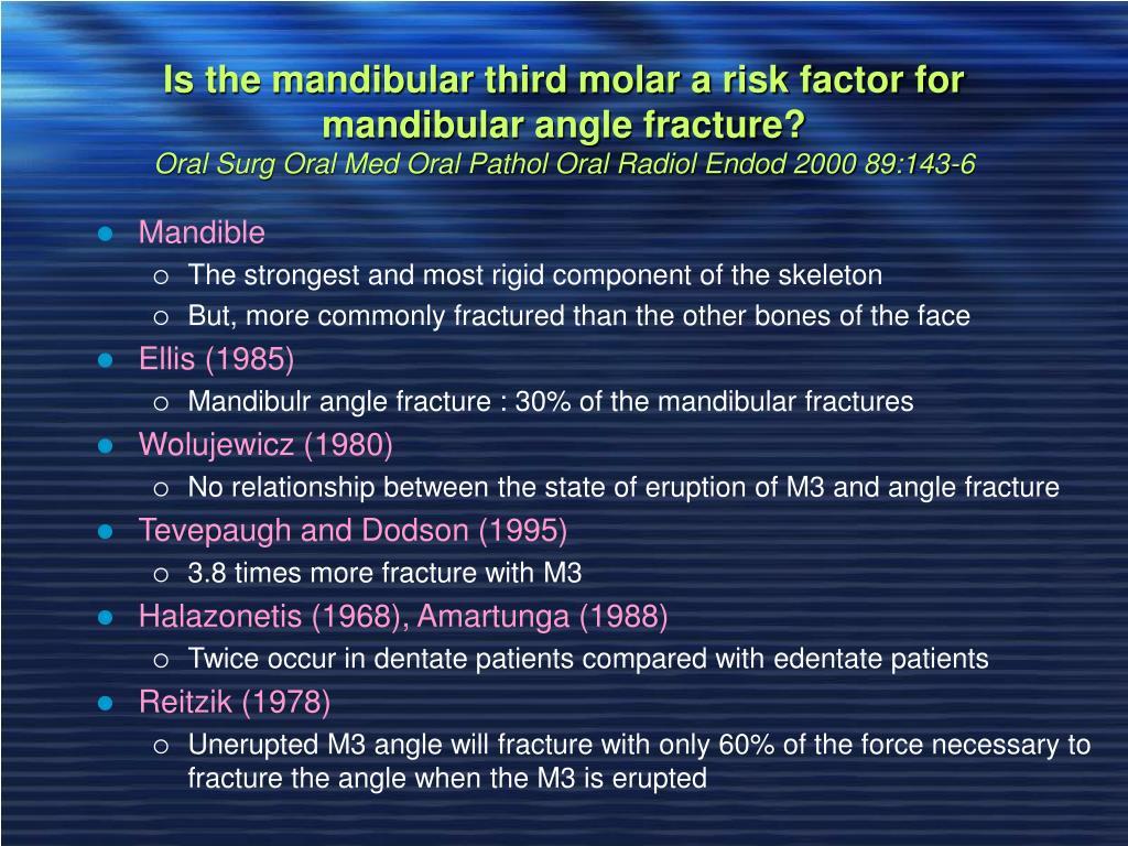 Is the mandibular third molar a risk factor for mandibular angle fracture?