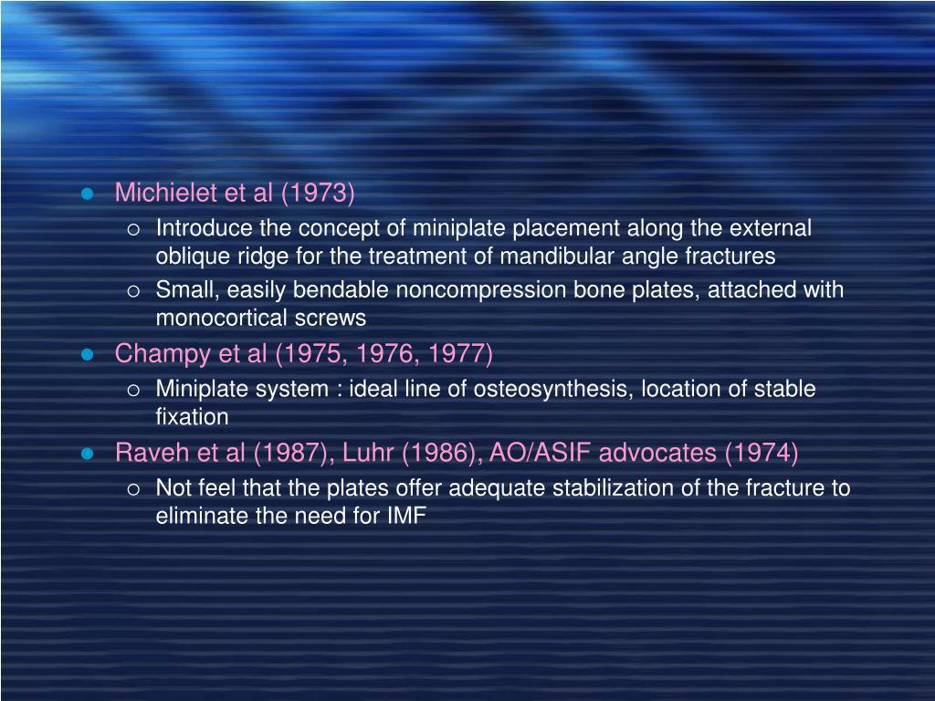 Michielet et al (1973)