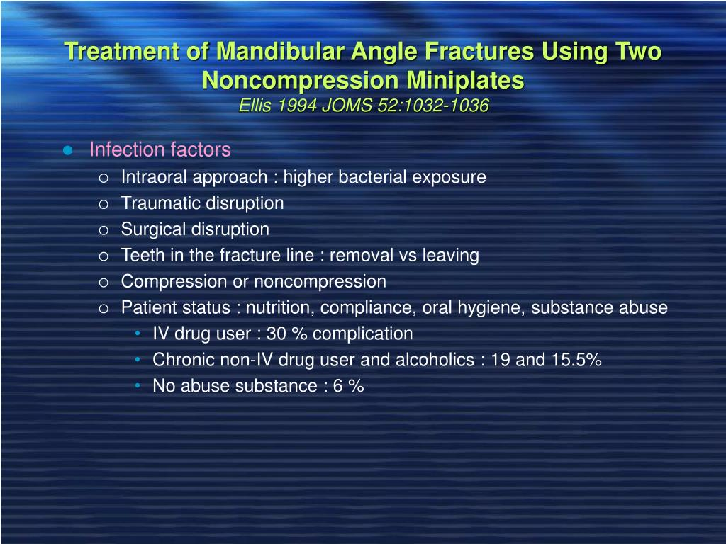 Treatment of Mandibular Angle Fractures Using Two Noncompression Miniplates