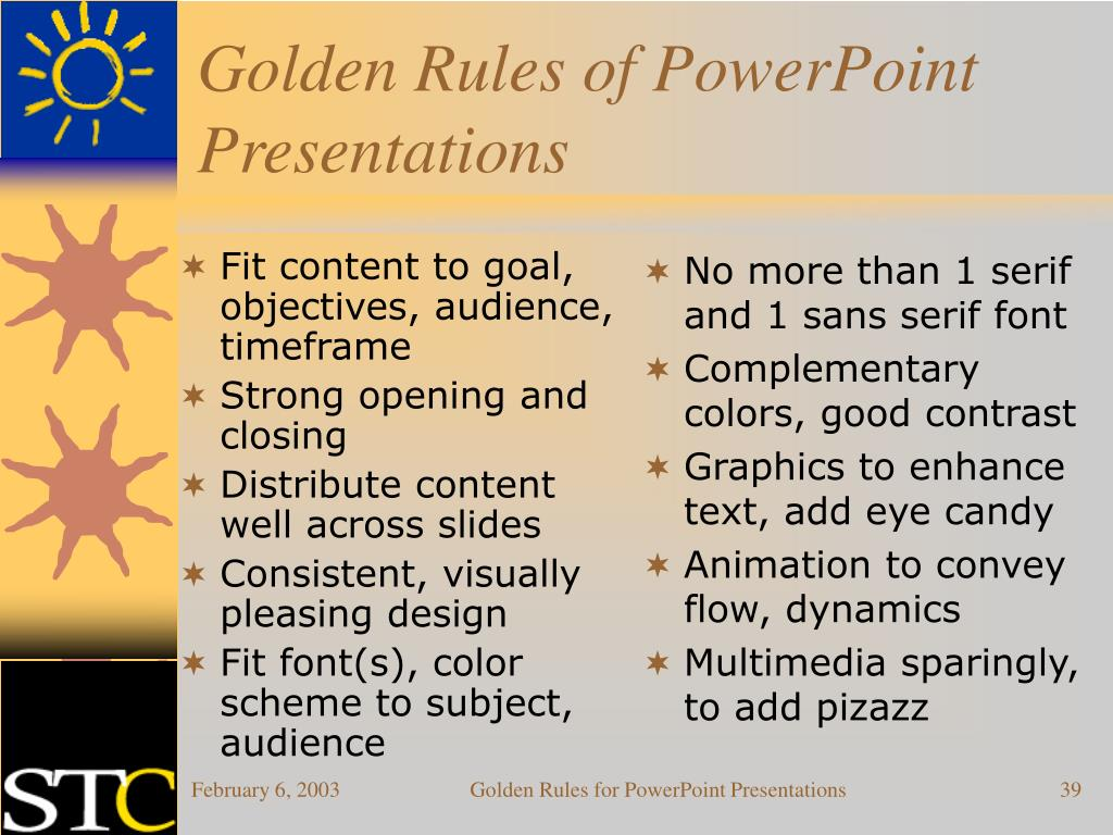 Fit content to goal, objectives, audience, timeframe