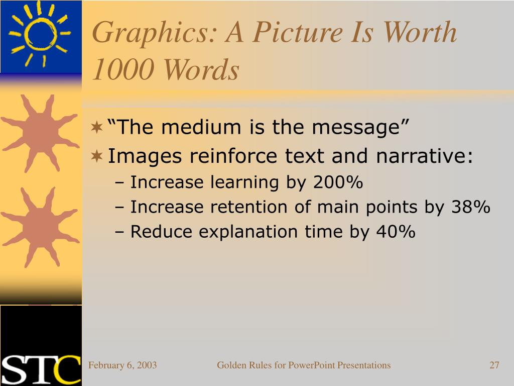 Graphics: A Picture Is Worth 1000 Words