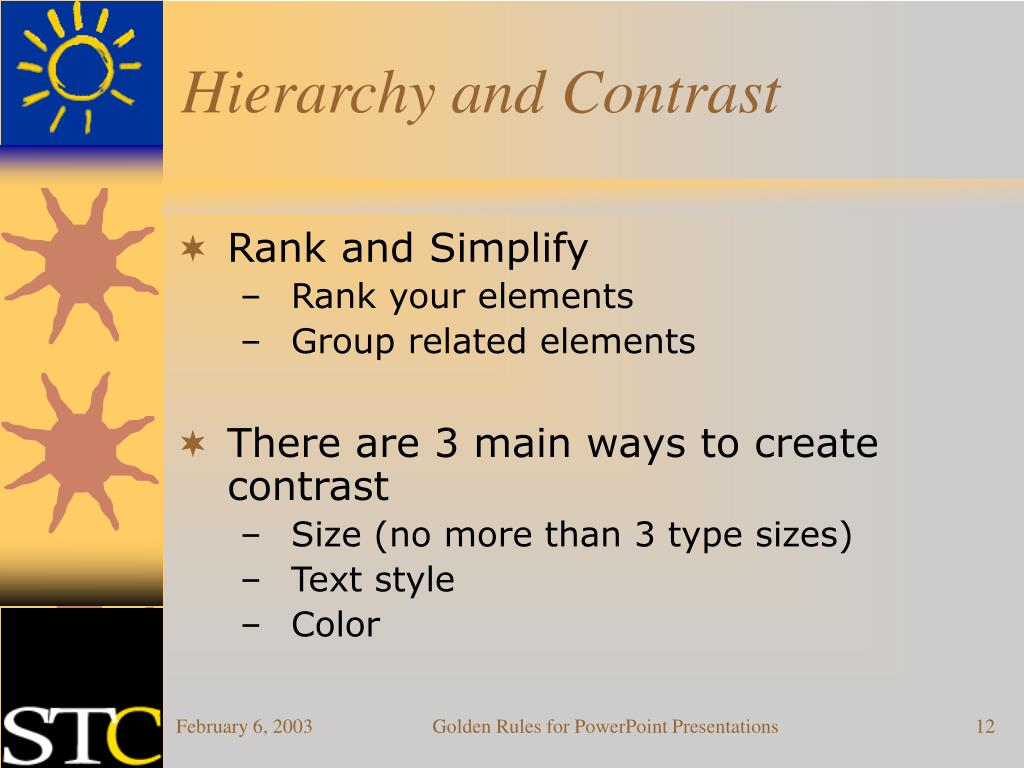 Hierarchy and Contrast