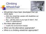 climbing wheelchair
