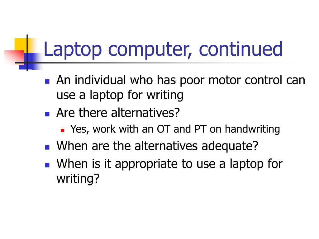 Laptop computer, continued