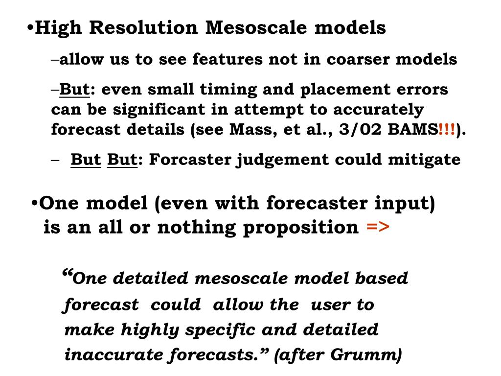 High Resolution Mesoscale models